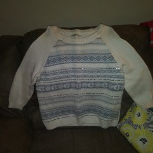 Old Navy Geometric Holiday Winter Sparkle Sweater